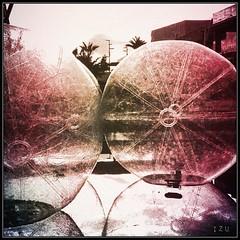 Sfere , Esfera (edu_izu) Tags: zaragoza izu esferas bwzaragozaarquitectura