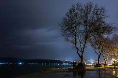 Two silhouettes (aesrth) Tags: sea clouds water trees night light city people istanbul turkey bosphorus rain reflection long exposure sony rx100 longexposure blue nature autumn fall branches cold alone winter silhouettes silhouette