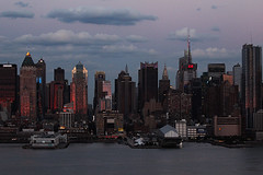 Sunset on west Manhattan_4757 Chrysler building (ixus960) Tags: nyc newyork america usa manhattan city mgapole amrique amriquedunord ville architecture buildings nowyorc bigapple