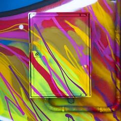 Couleurs lectriques (Gerard Hermand) Tags: 1609043874 gerardhermand france bordeaux canon eos5dmarkii formatcarr art rue street streetart peinture paint bombe spray aerosol droponer lelotus armoire lectrique electric cabinet