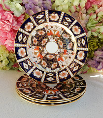 Royal Crown Derby Traditional Imari Dinner Plates Cobalt Rust Gold (Donna's Collectables) Tags: royal crown derby traditional imari dinner plates cobalt rust gold