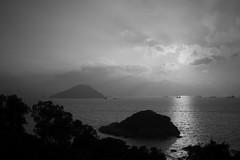 Hong Kong Island from Peng Chau (a.pierre4840) Tags: olympus omd em5 mzuiko 25mm f18 sunrise hongkong victoriaharbour dawn harbour seascape marine bw blackandwhite monochrome noiretblanc pengchau silhouette