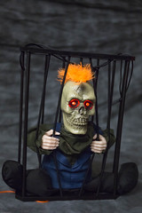 """""""Let me out"""" (briancomer240) Tags: cage zombie halloween"""