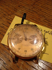 "SWISS 14K ROSE GOLD CHRONOGRAPH WRISTWATCH. • <a style=""font-size:0.8em;"" href=""http://www.flickr.com/photos/51721355@N02/30171888062/"" target=""_blank"">View on Flickr</a>"