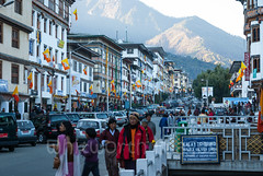 Thimphu (whitworth images) Tags: asian vehicles autos bustling himalaya crowded city urban hills bhutan capital cold small people automobiles busy cars thimphu travel himalayas flags afternoon architecture colourful colorful asia buildings traditional thimphudzongkhag