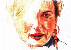 APUNTE (3) (GARGABLE) Tags: portrait retrato sketch drawings dibujos angelbeltrán gargable