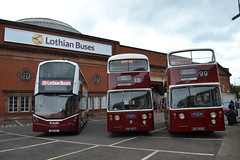 Lothian Buses 555 SA15VUF - Edinburgh Corporation 801 ESF801C & 900 JSC900E (Will Swain) Tags: edinburgh central depot open day 24th september 2016 lothian bus buses transport travel uk britain vehicle vehicles county country scotland scottish north northern city centre garage shed yard visitors 555 sa15vuf corporation 801 esf801c 900 jsc900e