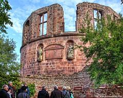 Tower Ruins at Heidelberg Castle in Heidelberg, Germany (PhotosToArtByMike) Tags: heidelbergcastle heidelberggermany heidelbergerschloss ruins heidelbergcastletower heidelberg germany tower statue neckarriver oldtownheidelberg medieval neckarvalley badenwrttemberg europe