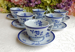 Spode Cups & Saucers ~ New Stone ~ Gloucester Y2989 (Donna's Collectables) Tags: spode cups saucers gloucester y2989 thanksgiving christmas