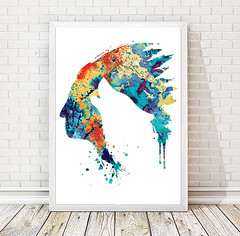Native American watercolor Indian Art Print Wolf poster Wolf painting Wolf wall art Native American Headdress art Wolf boy room decor (bogiartprint) Tags: artandcollectibles prints giclee walldecor halloweendecor nativeamericanart wolfpainting wolfposter boybirthday wolfart wolfprint featherwatercolor halloweencostume wolfhomedecor wolfwatercolor halloweenart