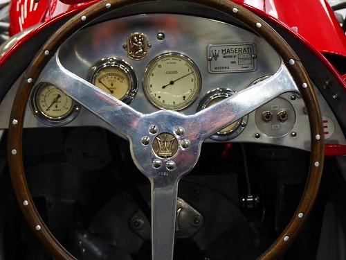 Cockpit de la Maserati A6GCM 1951