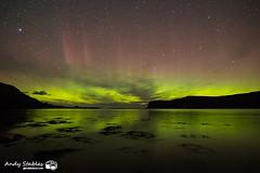Aurora, Loch Pooltiel, Isle of Skye (Andy Stables) Tags: aurora borealis northern lights pooltiel loch milovaig meanish glendale skye scotland canon 5d4 5d mark iv