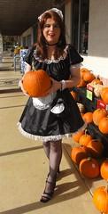 Got my Halloween pumpkin! (rgaines) Tags: costume cosplay crossplay drag frenchmaid halloween shopping