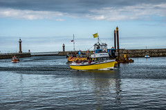 yellow boat (pamelaadam) Tags: sea boat whitby engerlandshire august summer 2016 holiday2016 digital fotolog thebiggestgroup