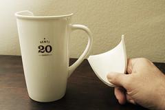 Day 2892 - Day 336 (rhome_music) Tags: coffee mug coffeemug venti starbucks broken musingsandramblings 365days 365days2016 365more daysin2016 photosin2016 365alumni year8 365daysyear8 dailyphoto photojournal dayinthelife 2016inphotos apicaday 2016yip photography canon canonphotography eos 7d