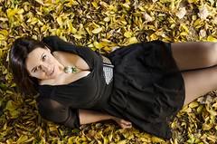 (Magyoz) Tags: autumn fall colors colours girl woman leaves yellow red black dress pretty beautiful budapest hungary ősz magyarország nő lány szép