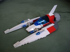 Orze - Fighter-Bomber (lski Hutas) Tags: lego bricks aircraft space futuristic missiles scifi poland polska starfighter fighter bomber