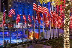 Rockefeller Center during Election Night (wuestenigel) Tags: usa trump starsandstripes rockefellercenter rockefellerplaza nbc flaggen 2016 election2016 clinton donaldtrump rocke präsident myvote präsidentschaftswahl newyorkcity democrazyplaza flag hillaryclinton america amerika electionday election flagge patriotism patriotismus travel reise noperson city stadt celebration feier outdoors drausen festival administration verwaltung national stripe streifen building gebäude color farbe tourism tourismus party wahl fun spas park people menschen light licht