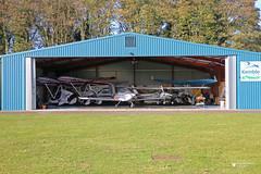 Woodside Hangar, Cotswold Airport, Kemble, Gloucestershire (Kev Slade Too) Tags: gfffa pulsr gfffb pandmaviation quik gcefz evektor ev97 eurostar gkejy teameurostar gkfca ikarusc42 gdsma quikr egbp kemble cotswoldairport gloucestershire