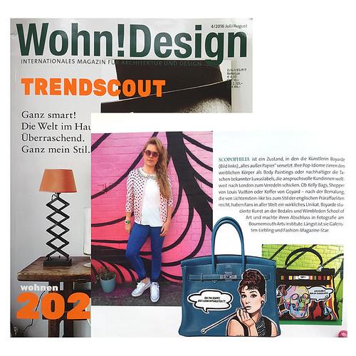 Wohn Design magazine august 2016 montage