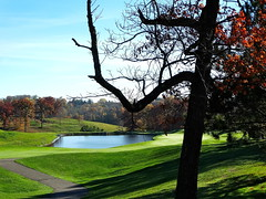 November Shadows (e r j k . a m e r j k a) Tags: pennsylvania allegheny upperohiovalley shadows november autumn moon i376pa i79pa us22 golf fairway erjkprunczyk lincolnhighway us30 explore