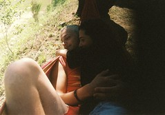 Lovers in the hammock pt. I (Arianna Rubini) Tags: love lovers girl boy hammock summer orange countryside mountain sweet together hug hugging kodak portra 400 analog film wild folk wanderlust simple beauty ariannarubini analogue 35mm canon ftb young youth moment