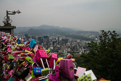 View from N Seoul Tower (clogette) Tags: view southkorea padlocks seoul korea love kr