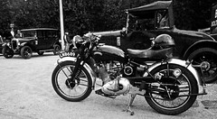 Vintage Vincent - 1950s seris 'C' Comet? (Gerry Hat Trick) Tags: motor motorbike vincent antique vintage comet black white mono seriesc howardrdavies hrd philvincent