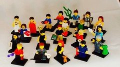 Just finished the first draft of 20 Brick Yourself figures for Australia's Science channel. #brickyourself #brickmandan #makeyourselfinlego