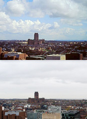 View from the Liver Building, 1980s and 2016 3 (Keithjones84) Tags: liverpool merseyside history localhistory thenandnow rephotography liverbuilding royalliverbuilding