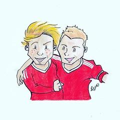 Torres & Gerrard (dejanferreira) Tags: torres fernandotorres lfc liverpoolfc liverpool reds desenho dibujo draw drawing art arte gerrard stevengerrard