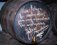 Antonios Barrel (FraVal Imaging) Tags: wein spain malaga flickr espana barrel andalusien andalucia elpimpi antoniobanderas spanien wine