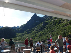 On a Tourist Ship in the Trollfjord, Norway (2) (Phil Masters) Tags: 21stjuly july2016 norwayholiday norway raftsund raftsundet thetrollfjord trollfjorden trollfjord shipsandboats msspitsbergen tourists