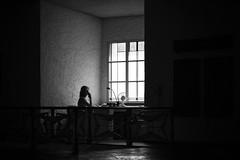 Old Fashion Light (parenthesedemparenthese@yahoo.com) Tags: dem 2016 allemagne bn bw blackwandwhite blancetnoir chaise ete femme frankfurt germany lamp monochrome nb noiretblanc phone window woman bureau canon600d desktop ef50mmf18ii fenetre floor indoors intérieur lampe murs seat sol summer telephone ventilateur ventilator walls