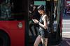 Girl on (Gary Kinsman) Tags: camden canon5dmkii canoneos5dmarkii canon70300mm telephoto zoom london camdentown camdenroad nw1 voyeur voyeurism candid streetphotography streetlife reflection layers distortion bus women fashion goth rock tattoos camdencoffeehouse 2016