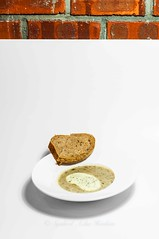 Mushroom soup... (Syahrel Azha Hashim) Tags: dof colors texture bricks nikon malaysia mushroomsoup appetizers arrangement handheld foodphotography colorimage 2016 shallow prime light simple naturallight whitebackground delicious details d300s travel syahrel food minimalism negativespace breads meal nopeople colorful detail