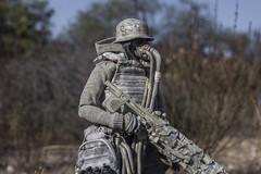 Bright Day (wadetaylor) Tags: threea custom threeacustom ashleywood toy toyphotography onesixth sniper gasmask military figure