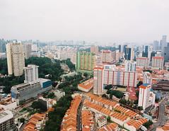 Chinatown Vista (OzGFK) Tags: asia singapore chinatown pinnacleatduxton pinnacle duxton skyline mediumformat 120 645 film analog urban kodakektar100 pentax shophouse peoplespark
