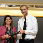 Professor Eva Pomerantz, Zachariah Bertels: Honors in Psychology & James E. Spoor Scholarship recipient