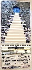 Figli unici (Daniela Bellofiore Artista) Tags: quadri arte interni riciclo nero bianco scale vita scultura installazione pittura grigio