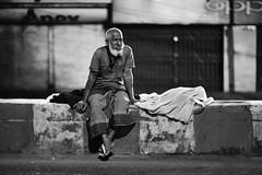 The Apex Sleeper (N A Y E E M) Tags: oldman homeless trafficisland candid portrait latenight street kazirdewri chittagong bangladesh carwindow availablelight