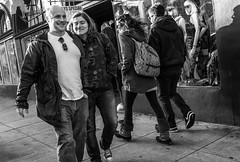 Couple (feldmanrick) Tags: streetphotography street sanfrancisco thehaight urban outdoor candid unposed decisivemoment bw blackandwhite monochrome