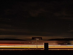 highway to space (Paramedix) Tags: himmel space stars sterne autobahn a81 highway germany deutschland badenwrttemberg epfendorf olympus em5 mft night nacht