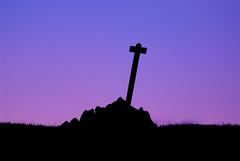 Stobb Cross (Jamesylittle) Tags: cross jesus sky winter colour pink purple silhouette black fell moor stobb northumberland hills north clear