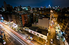 New York 2012 (John Erik) Tags: street nyc longexposure ny newyork cars night lights hotel nikon nightshot manhattan taxi soho midtown timessquare empirestatebuilding nikkor nolita lightstreaks d300 kenmarestreet 1024mmf3545g nolitan