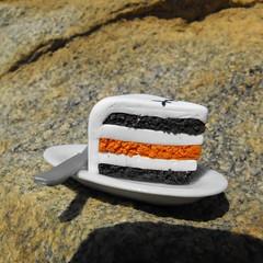 Yum! Yum! (DLSarmywife--DLightful Designs) Tags: orange halloween miniature chocolate fake polymerclay jackskellington vanilla layercake nightmarebeforechristmas fauxfood playscale