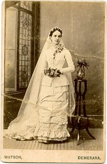 Demerara wedding dress 1881 (mr broddy) Tags: wedding window studio stand dress guyana georgetown watson bouquet demerara