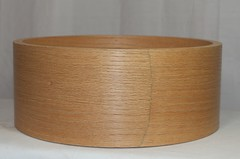 #015 - 5.5x14 Red Oak with same species reinforcing rings (2 of 4) (TreeHouse Custom Drums) Tags: redoak solid