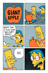 Giant Apple (Jack Teagle) Tags: crazy sinister joke bartsimpson milhouse giantapple