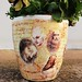 Leonardo da Vinci motif flower pot